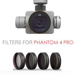 Filtres PGYTECH pour DJI phantom 4 Pro (ND4/ND8/ND16/ND32/ND64) 4Pack + Pochette